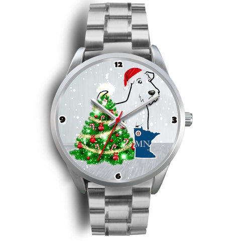 Airedale Terrier Minnesota Christmas Special Wrist Watch-Free Shipping