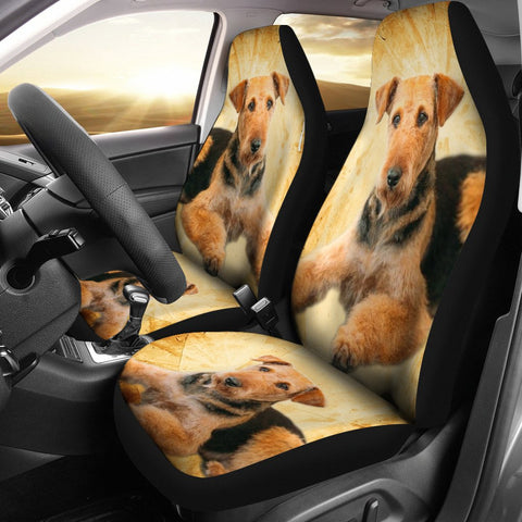 Airedale Terrier Print Car Seat Covers- Free Shipping