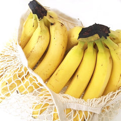 Bananas in Kalleco organic cotton net tote bag. Picture taken by @healthwithsuzi_