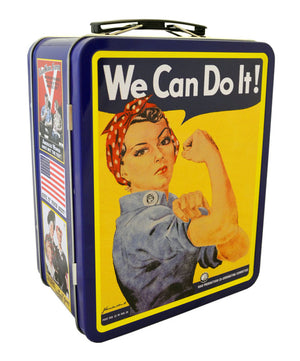 Rosie the Riveter Lunch Box, Blue
