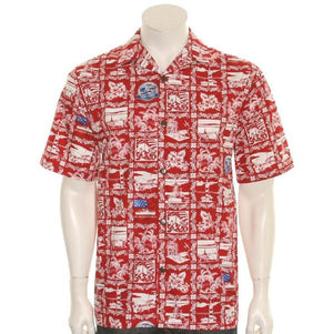 75th Anniversary Pearl Harbor Aloha Shirt By Hilo Hattie, Red