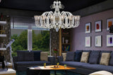 European Frosted Ring Glass Chandelier - Grand Entrance Chandelier