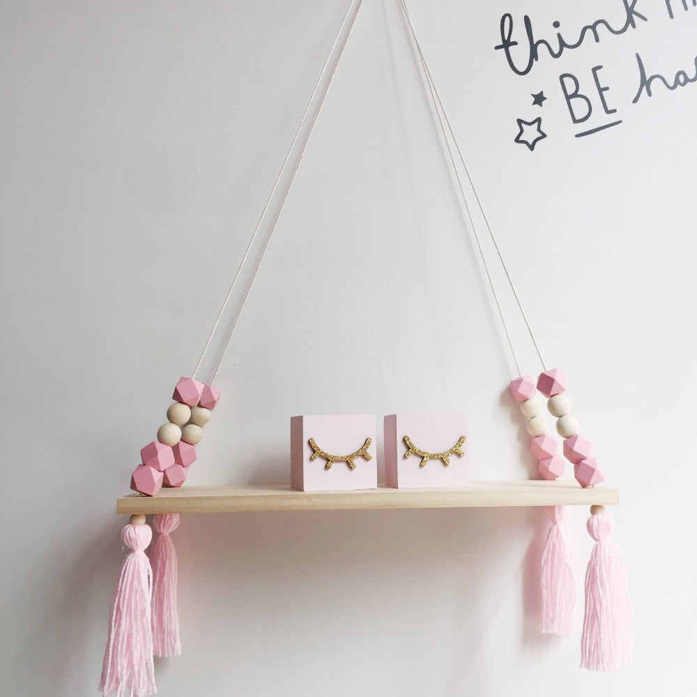 Wooden Shelf with Beads