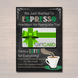 EDITABLE Coffee Card Holder, Thanks a Latte Gift Card Holder, Printable Teacher Appreciation, Teacher Gifts, Coworker Gift, INSTANT DOWNLOAD
