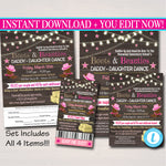 EDITABLE Daddy Daughter Barn Dance Set School Dance Flyer Invitation, Boots & Beauties, Church Community Event, pto, pta INSTANT DOWNLOAD