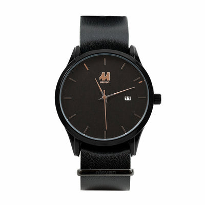 11 Watch - Black/Black Leather