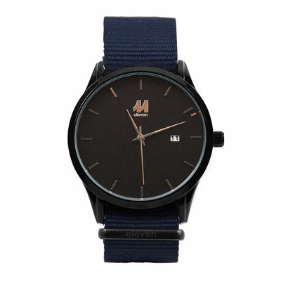 11 Watch - Black/Navy Nylon