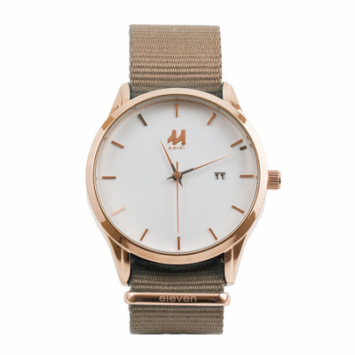11 Watch - Gold/Sand Nylon
