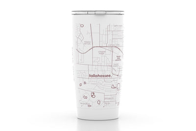 Tallahassee, FL - Florida State - Color College Town 20oz Insulated Pint Tumbler