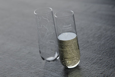 Topography Maps Stemless Champagne Flute Pair