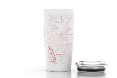 Columbus, OH - Ohio State - Color College Town 20oz Insulated Pint Tumbler
