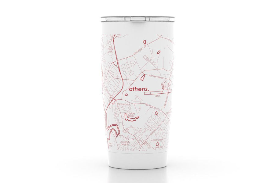 Athens, GA - Univ of Georgia - Color College Town 20oz Insulated Pint Tumbler