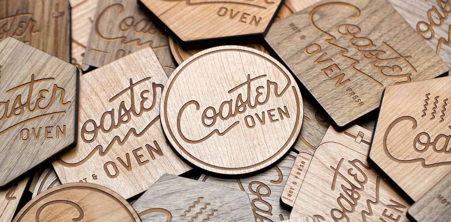 Custom coaster designs from coaster oven