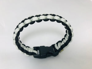 Black and Silver Paracord Bracelet