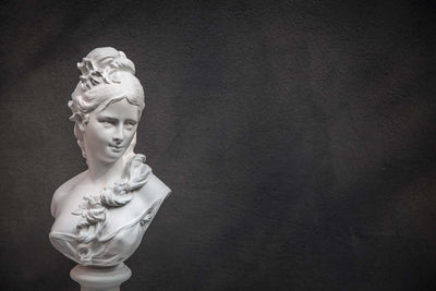 Chalk Bust Semi Nude Young Woman Classical Sculpture - Design Atelier Article