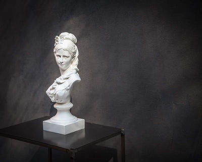 Chalk Bust Semi Nude Young Woman Classical Sculpture - by Atelier Article