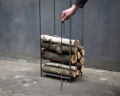 Firewood Holder flat top // Log Storage for indoors by Atelier Article - Design Atelier Article