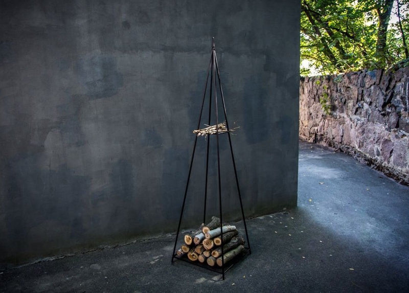 Log holder // Pyramid Firewood Storage for indoors or outdoors by Atelier Article - Design Atelier Article