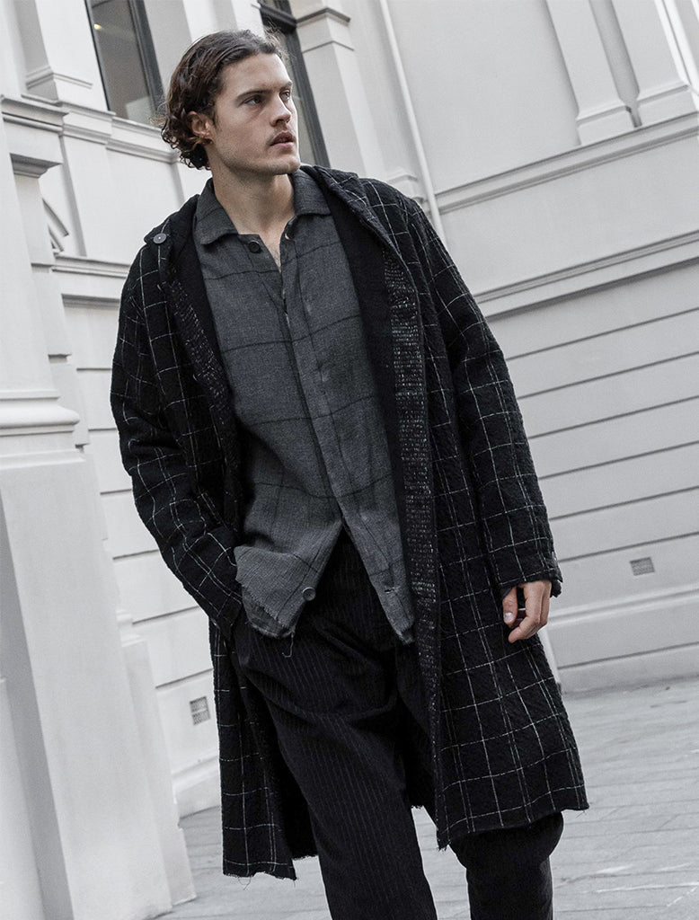 WINDOWPANE CHECK OVERSHIRT