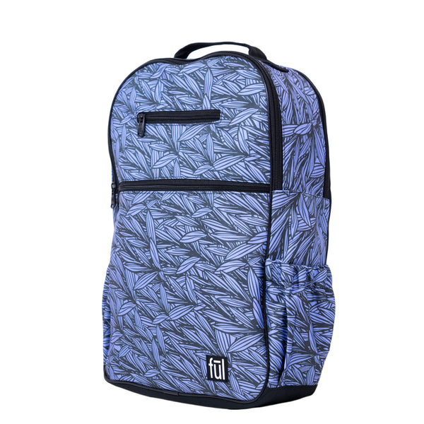 Accra Fashion Laptop Backpack, Blue Leaf