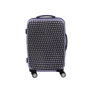 Metal Chain Swirl 20in Hardsided Spinner Luggage, Black