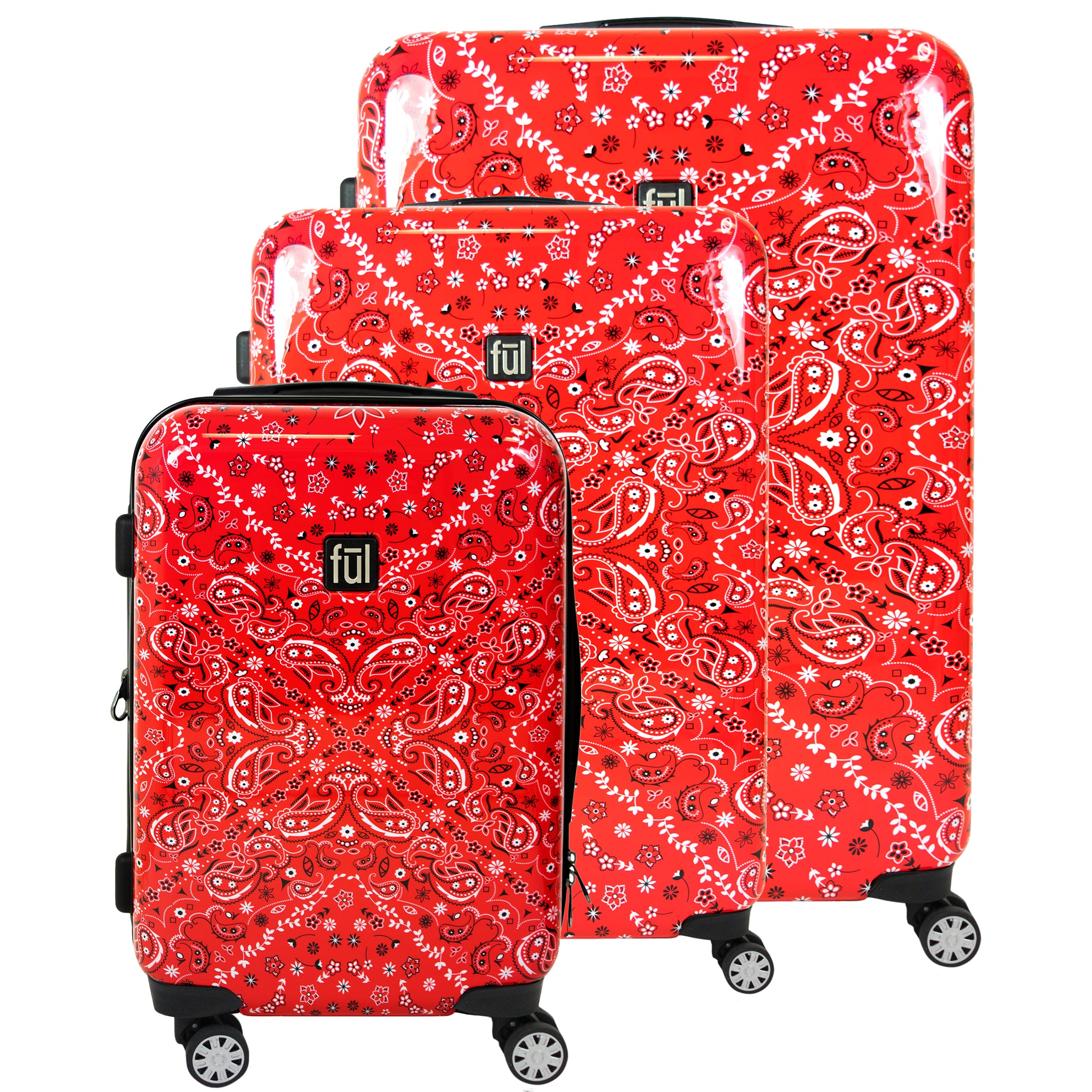 Bandana Hard Sided Luggage, 29, 25, and 21in Suitcases