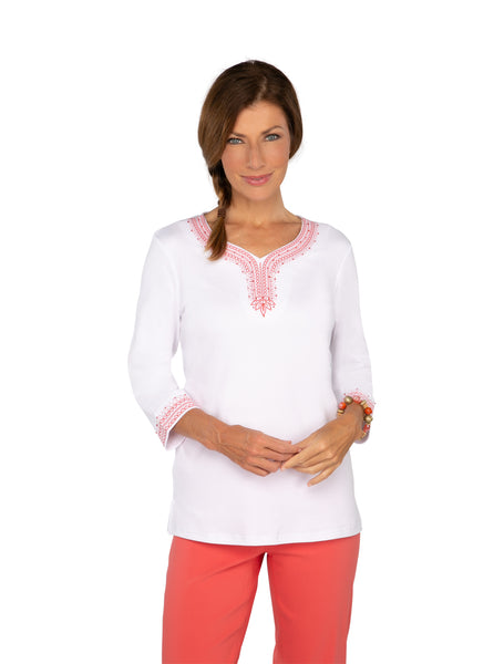 The Hamptons  Embroidered Top
