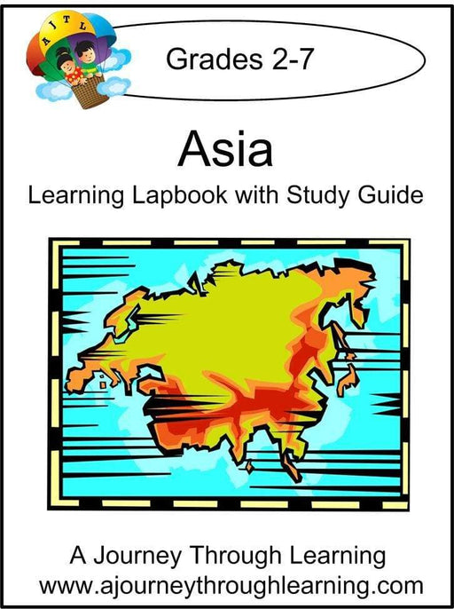 Asia Lapbook with Study Guide - A Journey Through Learning Lapbooks