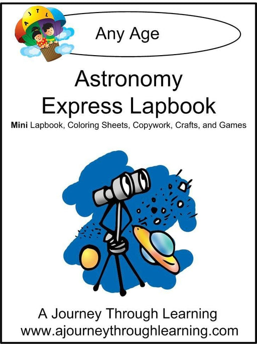 Astronomy Express Lapbook - A Journey Through Learning Lapbooks