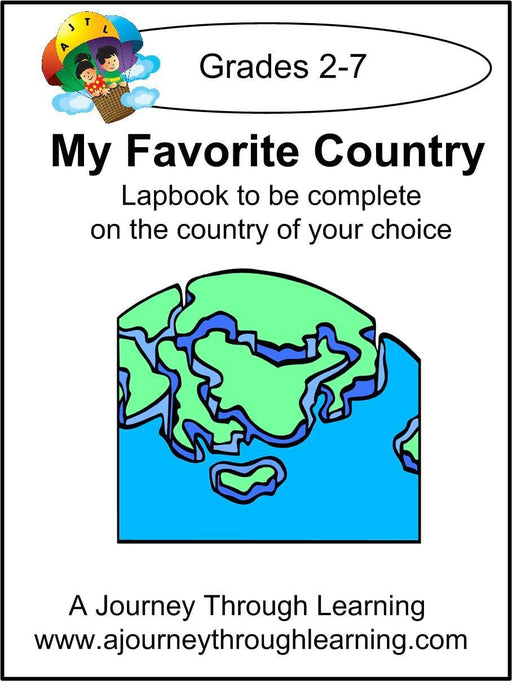 My Favorite Country Lapbook - A Journey Through Learning Lapbooks