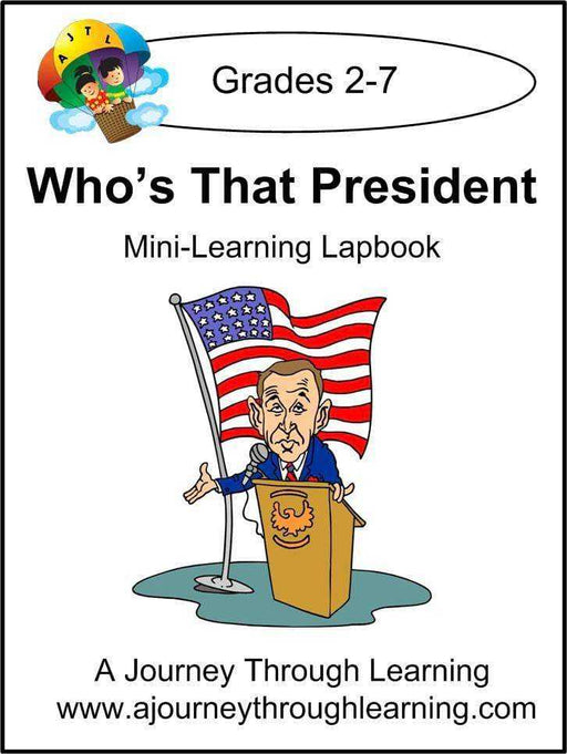 Who's That President Express Lapbook - A Journey Through Learning Lapbooks