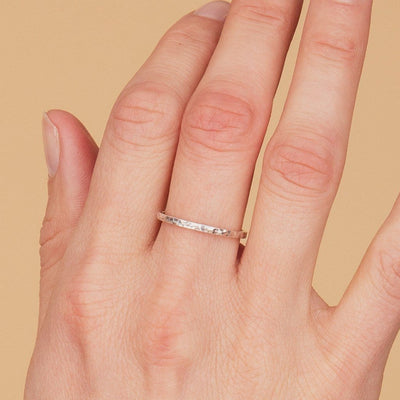 Istanbul Thin Stacking Ring - Silver