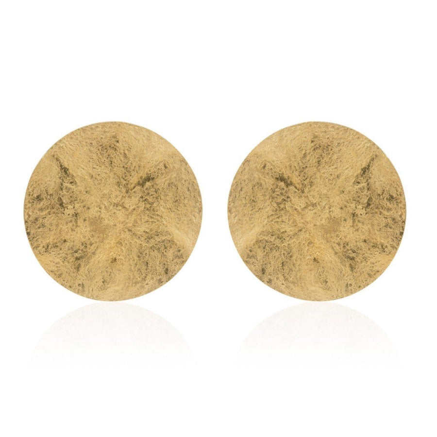 New York statement round earrings - Gold