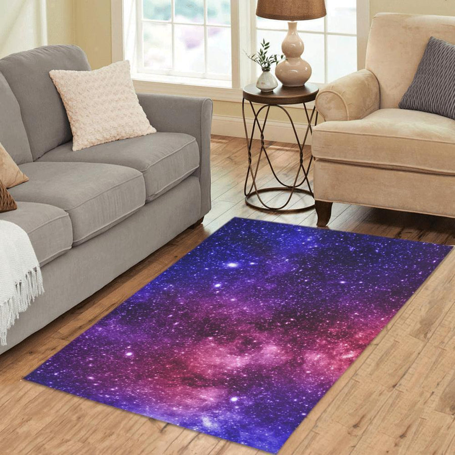 Blue Purple Stardust Galaxy Space Print 3 X 5 Indoor Area