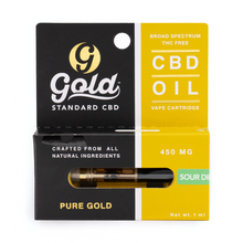 "450mg CBD Vape Cartridge ""SOUR DIESEL"""