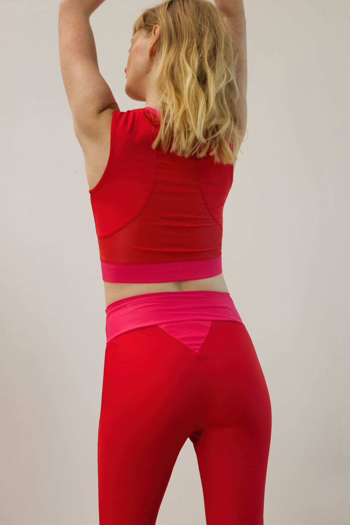 long-line halter made from recovered sea fishing nets | adrenaline red - charged pink