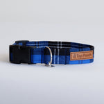 Royal Blue Tartan Dog Collar
