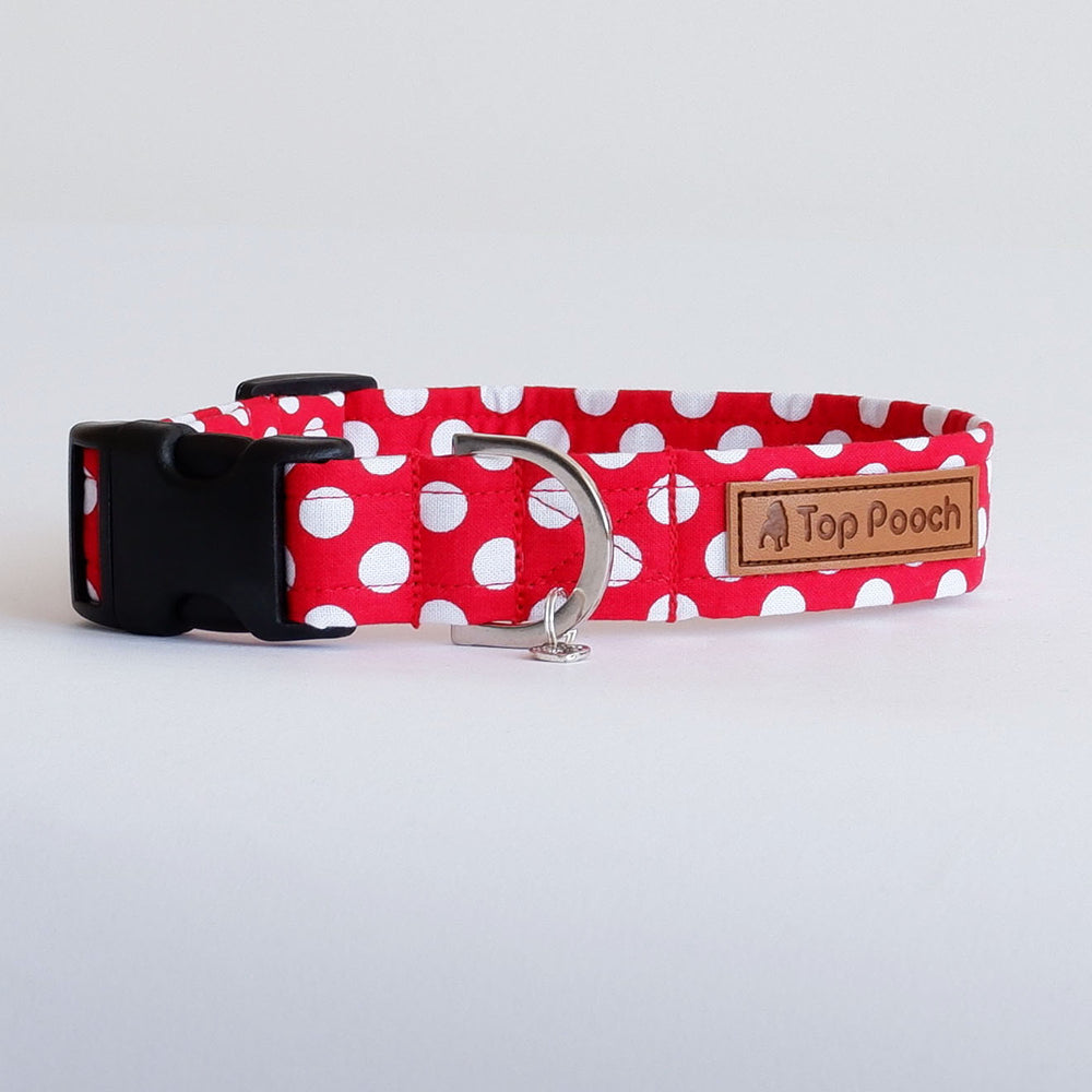Polka Red Dog Collar