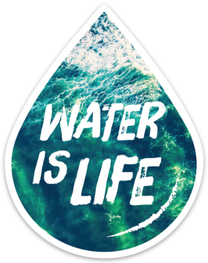 Water Is Life Sticker