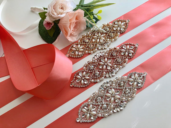 Coral Bridal Belt, Coral Wedding Belt, Rhinestone Bridal Belts, Bridesmaid Belt, Coral Bridal Sash, Bridal Sash Belt, Dress Belt Wedding