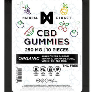 NaturalXtract 250mg CBD Gummies |10 of 25mg each