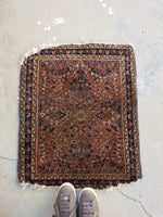 2' x 2'3 antique Sarouk Mat Rug