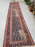 3'2 x 15'7 Antique Kurdish Runner