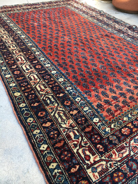 4x7 Antique Malayer / Small Oriental Rug