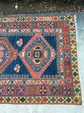 "3'10"" x 9'1"" Antique Caucasian Runner"