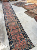 "2'5"" x 16'8"" Antique Runner / Long  Runner / Rug Runner / Long Vintage Runner"
