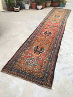 "3'2' x 15'5 "" Kurdish Antique Runner / Antique Runner / Long Runner"
