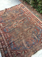 4'8 x 5'9 Persian Shiraz Tribal Rug