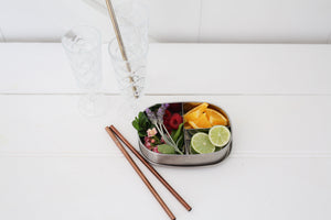 Ever Eco stainless steel bento box and stainless steel reusable straws.