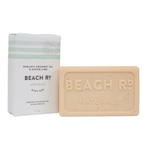 Organic Coconut Oil and Kaffir Lime Body Bar 200g by Beach Road Naturals
